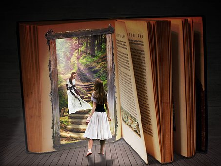 All books, including non-fiction, invite you into their world - image via Pixabay