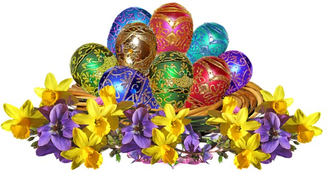 Easter Eggs. Image via Pixabay