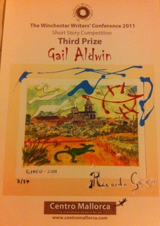 Third Prize Certificate - image by Gail Aldwin