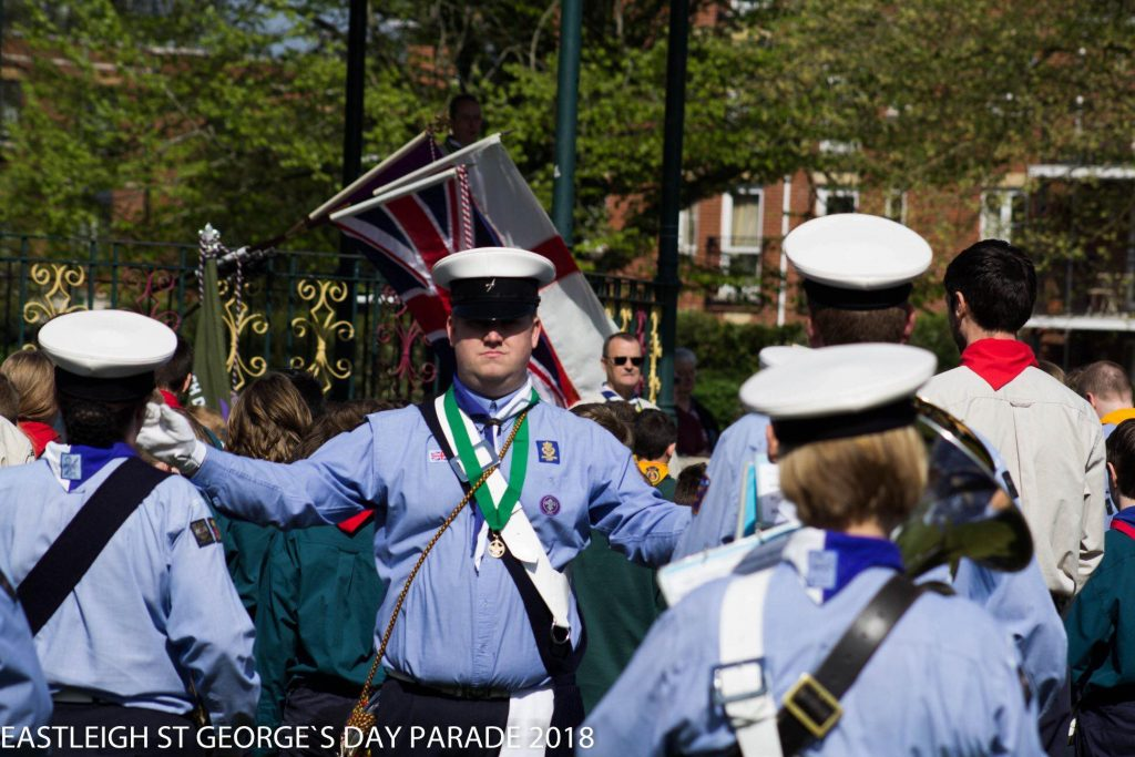 "14th Eastleigh Scout and Guide Band ""The Spitfires"" - St. George's Day Parade, 2018."