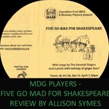 Feature Image - MDG Players Review - Shakespeare. Many thanks to the MDG Players for the programme.