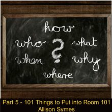 Part 5 – 101 Things to Put into Room 101
