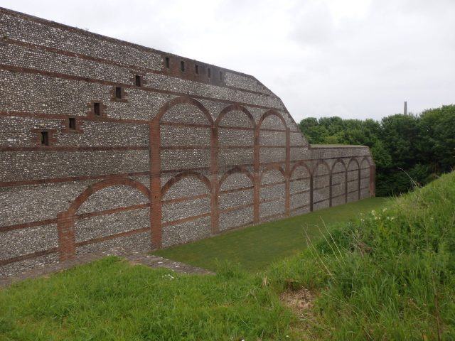 Walls at Fort Nelson