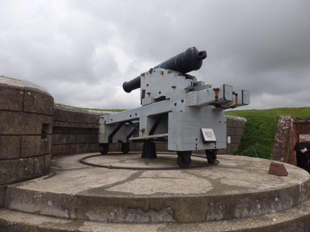 Replica gun emplacement at Fort Nelson