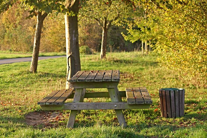 Part 6 - Nice picnic area but is the bin too small for purpose? Image via Pixabay