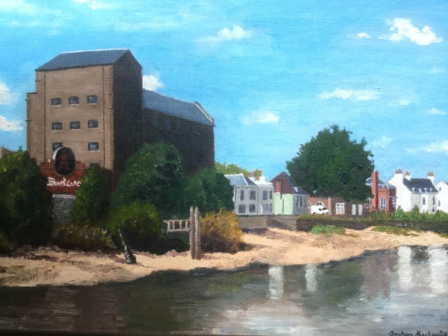 The River Thames at Mortlake by Graham MacLean. This was inspired by almost Constable like reflections and a fantastic summer sky.