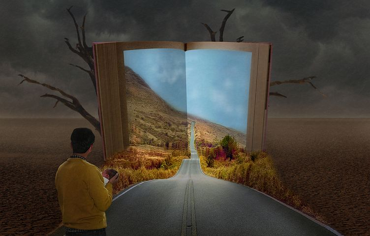 All books take you on a journey. Where will the books at the Hursley Park Book Fair take you? Image via Pixabay