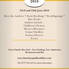 Hursley Park Book Fair – 23rd and 24th June 2018