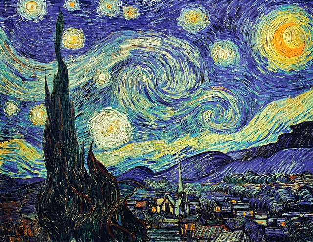 Starry NIght by Van Gogh - image via Pixabay