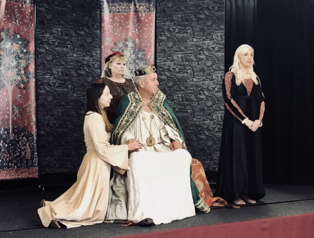 King Lear being performed in an 'interesting' manner.