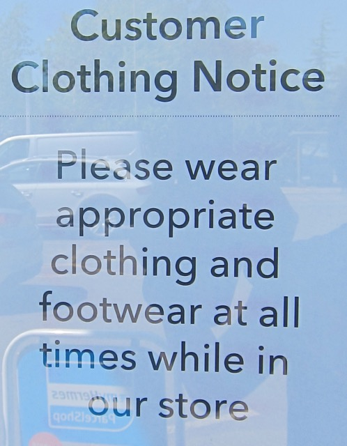 Clothing Notice in Chandler's Ford