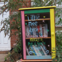 Little Free Library on Desborough Road in Eastleigh