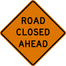Road Closure Ahead