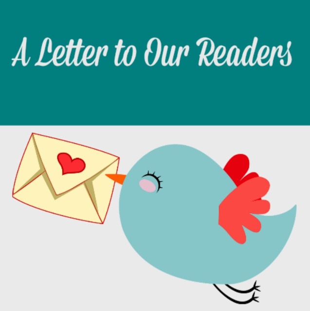 A letter to our readers