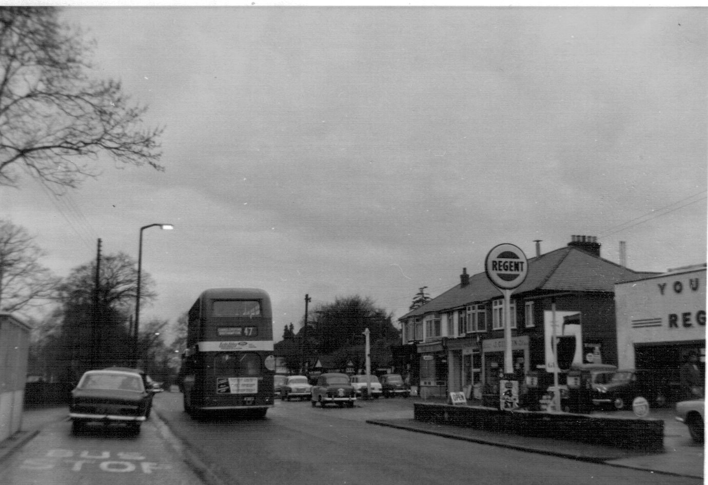 A Number 47 bus! Do you recognise this area in Chandler's Ford? Image credit: Doug Clews.