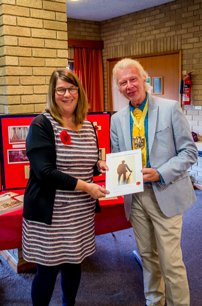 Author Margaret Doores with the Mayor of Eastleigh, Cllr Bruce Tennent. Author Margaret Doores with the Mayor of Eastleigh, Cllr Bruce Tennent. Image credit: Debbie Pearce Photography