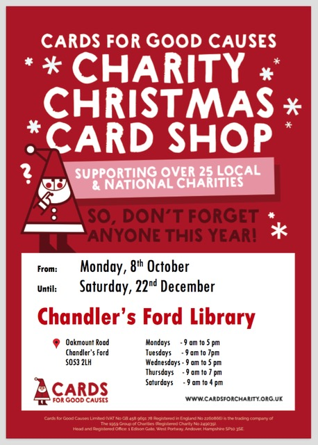 Card for Good Causes - Christmas 2018 at Chandler's Ford Library