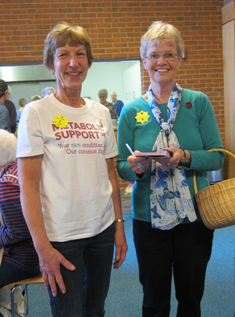 Jennifer (with her famous bamboo basket), and Caroline: busy selling raffle tickets and sourcing great prizes from the local community.