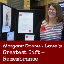 Margatet Doores: Love's Greatest Gift – Remembrance