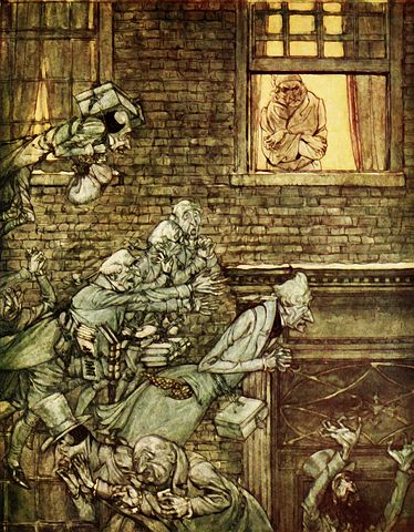 Scrooge is haunted - Pixabay image