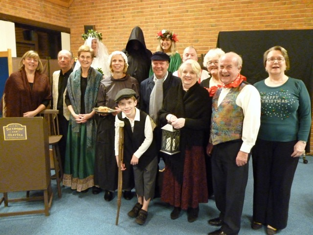 The cast from A Christmas Carol staged by the MDG Players. Image kindly provided by Mike Standing.