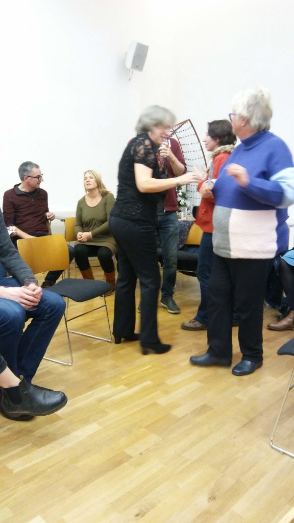 """""""Speed dating"""" at the Bridge House event. Image by Allison Symes"""