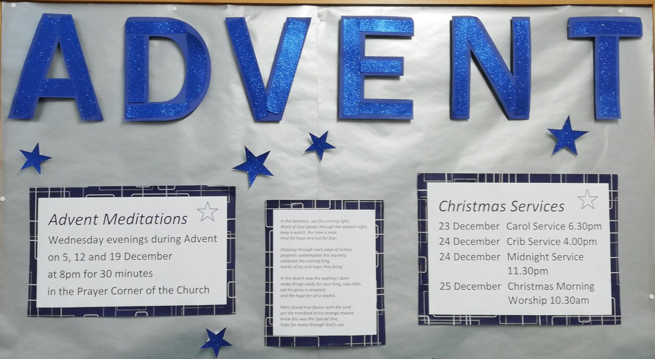 Advent at Chandler's Ford Methodist Church, Winchester Road.