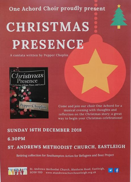 Christmas Presence: 16th Dec 2018 Eastleigh St Andrews.