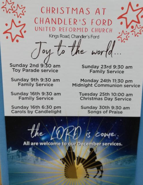 Christmas at United Reformed Church Chandler's Ford