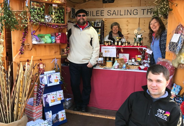 Jubilee Sailing Trust (JST) at the Winchester Cathedral Christmas Market, 2018