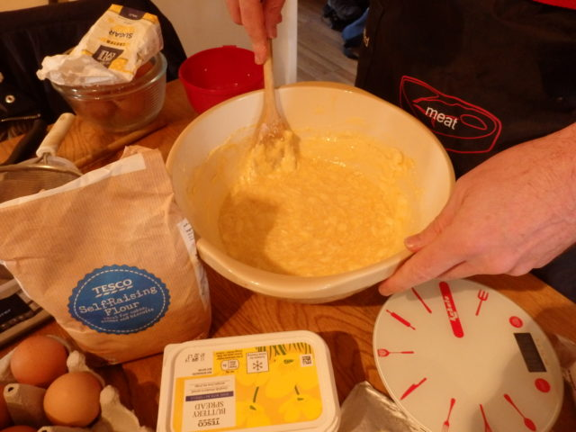 The initial batter mix