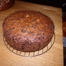 The finished cake