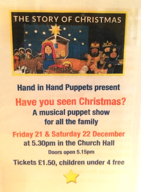 Hand Puppet show at Chandler's Ford Methodist Church 2018
