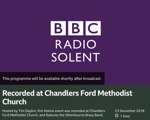 BBC Radio Solent Christmas carol concert: 23rd December 2018 at 1pm