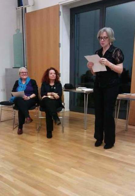 Thanks go to Paula Readman for organising the pre-event pub lunch. Her flash tale is in Cafelit 7 this year. Image by Allison Symes