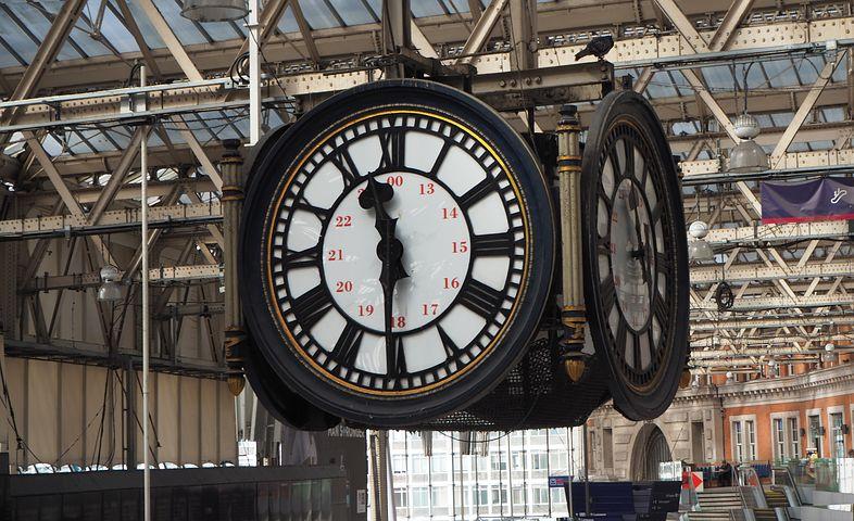 The London Waterloo clock - Pixabay image