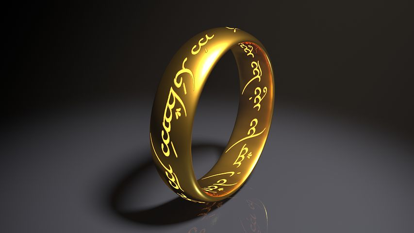 The one ring to bind them all from Tolkein's classic work. Pixabay image