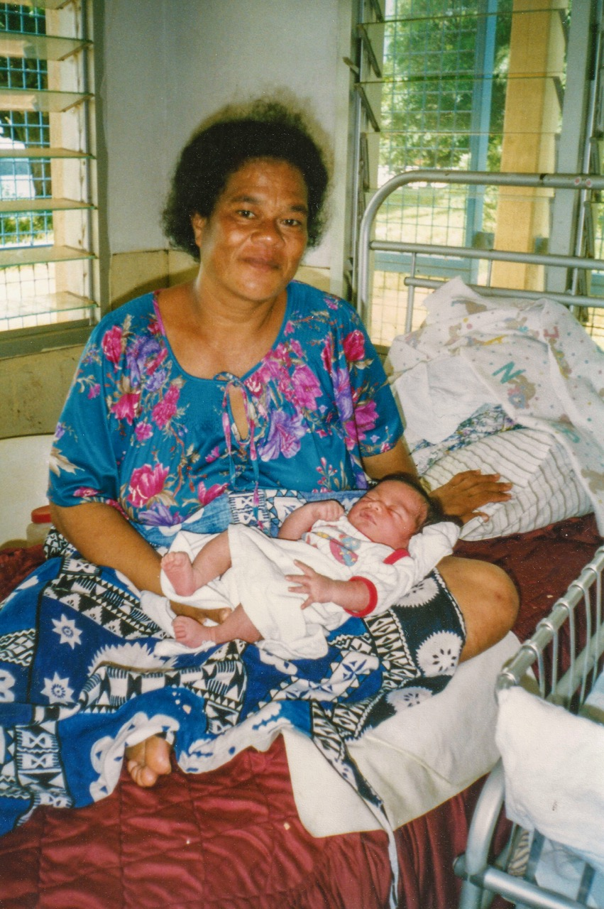 The Mother and the Baby. My daughter Lisa delivered the baby on 28th Jan 1997.