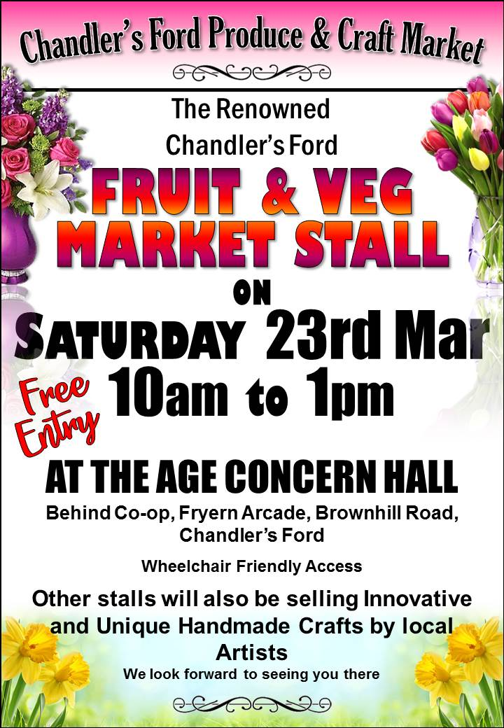 Chandler's Ford Market: 23rd March 2019