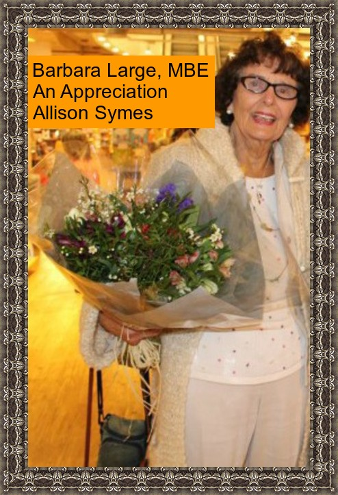 Feature Image Barbara Large - An Appreciation