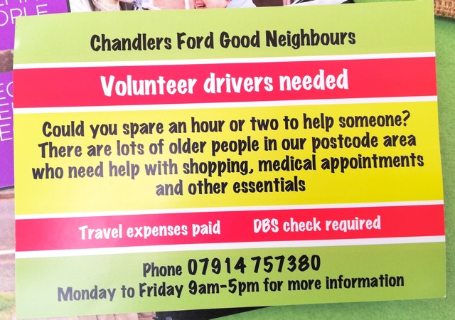Chandler's Ford Good Neighbours need you