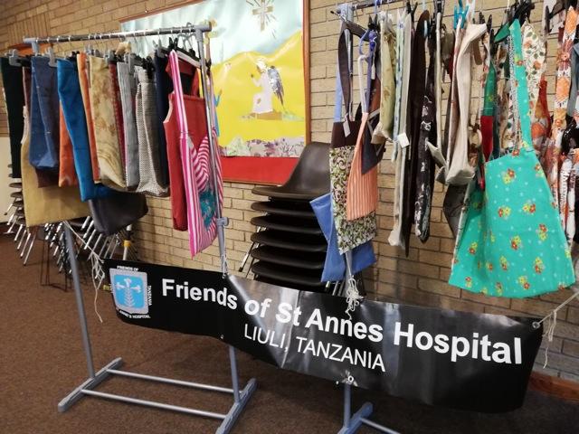 Raising funds in aid of St Anne's Hospital in Liuli, Tanzania.