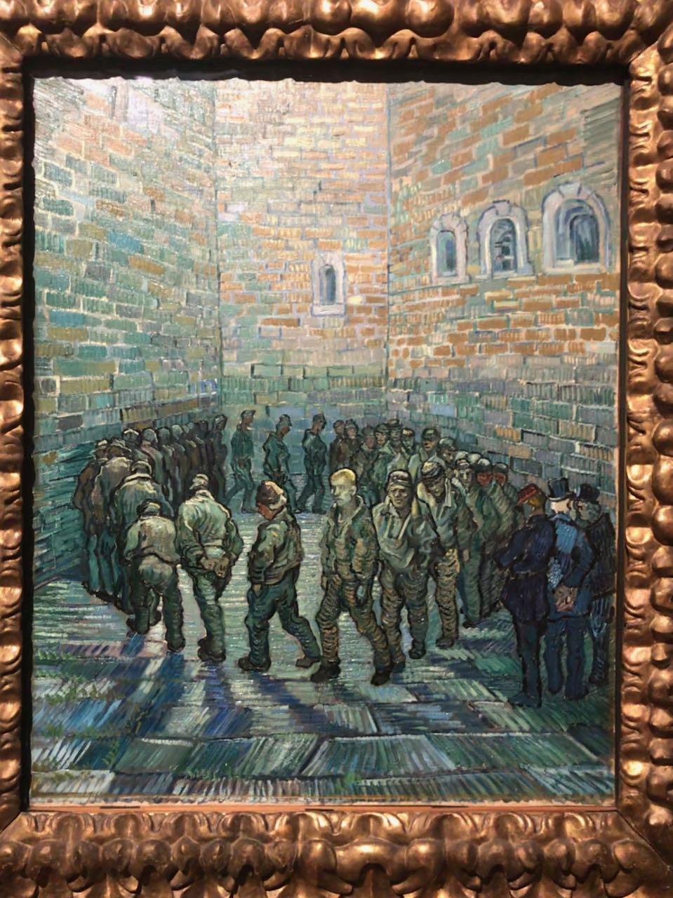 Prisoners exercising by Gustav Dore/ Van Gogh. Photo taken by Gopi Chandroth.