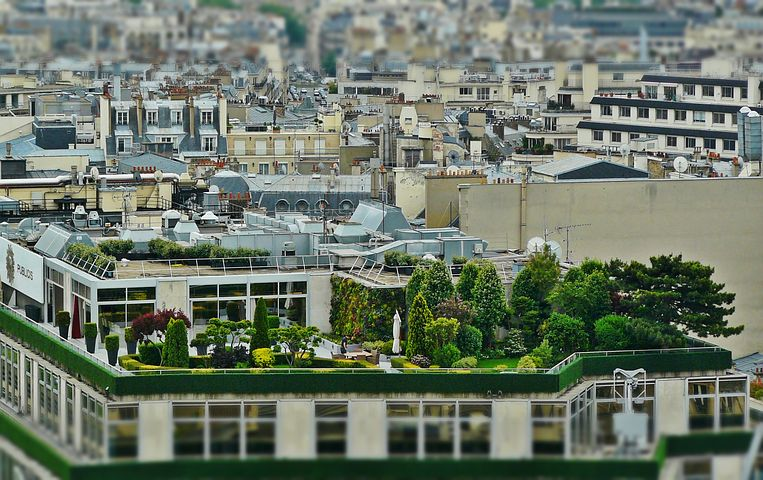 An example of a roof garden - Pixabay