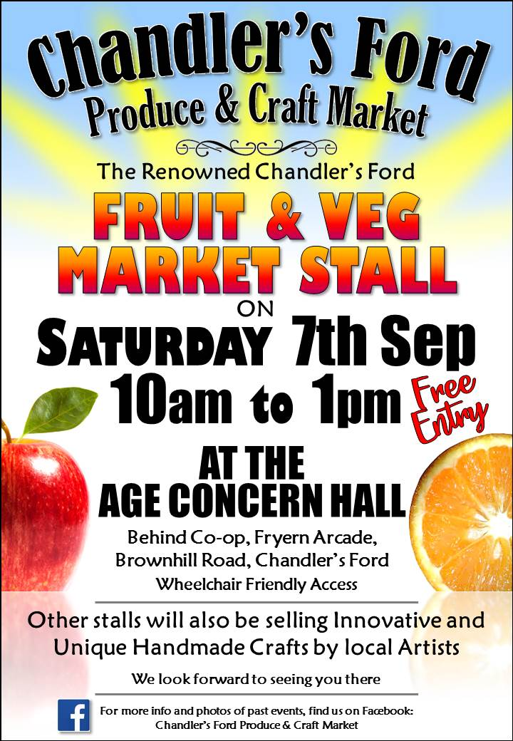 Chandler's Ford Fruit and Veg Market Stall - Saturday 7th September 2019
