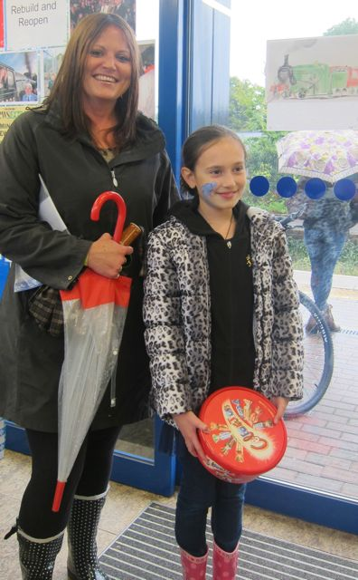 Louise from Scantabout Primary school was born on the day Chandler's Ford station re-opened on May 18. She received chocolates and free Southwest train tickets.