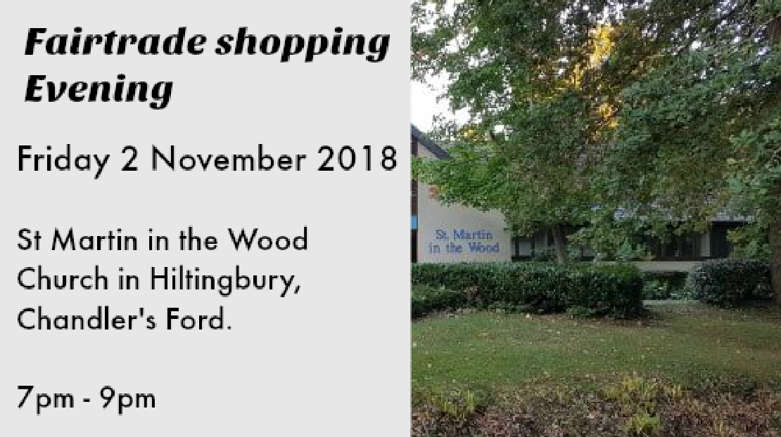 Fairtrade shopping 2 November at St. Martin in the Wood church