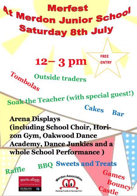 Merfest: Saturday 8th July 12pm to 3pmlyer