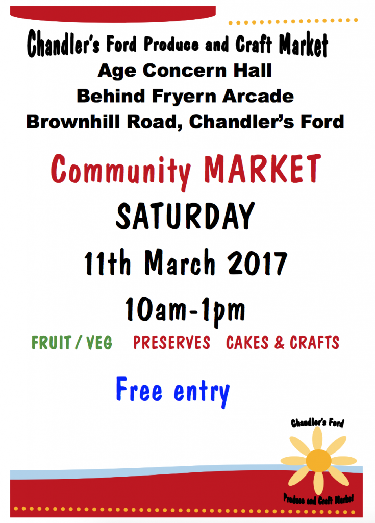 Produce and craft market 11 march 17