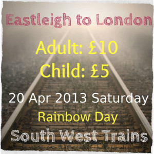 Rainbow day Eastleigh South West Trains offer, image by Insight Imaging via Flickr